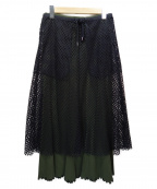 G.V.G.V(ジーヴィージーヴィー)の古着「メッシュレイヤードスカート」|ブラック