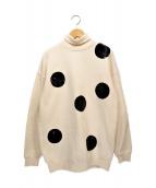 ()の古着「Sequin Polka Dot Sweatshirt」 ホワイト