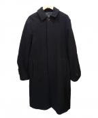 ABAHOUSE(アバハウス)の古着「メルトンバルカラーコート」|ブラック