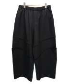 BLACK COMME des GARCONS()の古着「Switched Knee Drawstring Wool 」|ブラック