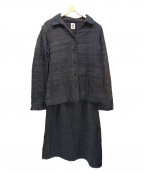 HaaT(ハート)の古着「刺繍セットアップスカート」 ネイビー