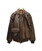 FREEDOM(フリーダム)の古着「A-2フライトジャケット」|ブラウン