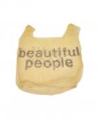 beautiful people()の古着「stopper sheet logo print bag」|アイボリー