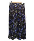BALLSEY(ボールジィ)の古着「コスモスダブルプリントスカート」|ネイビー