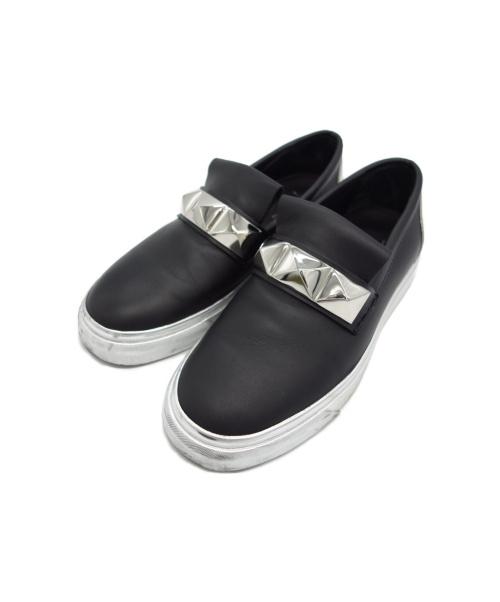 GIUSEPPE ZANOTTI(ジュゼッペザノッティ)GIUSEPPE ZANOTTI (ジュゼッペ ザノッティ) スタッズデザインスニーカー ブラック サイズ:41の古着・服飾アイテム