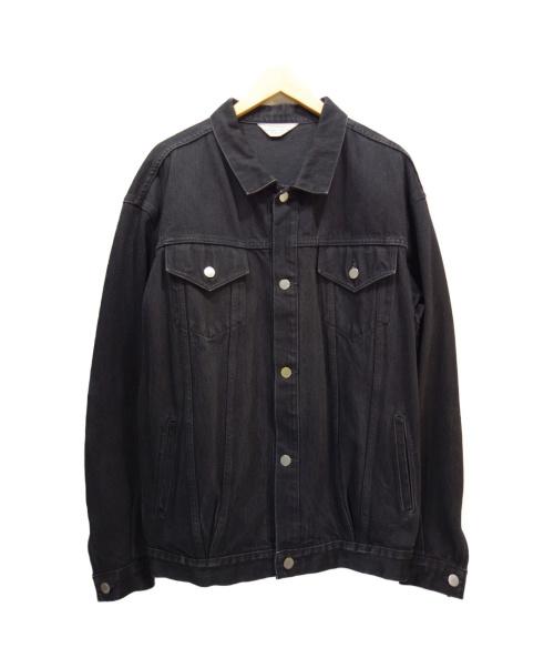 UNUSED(アンユーズド)UNUSED (アンユーズド) 13.5OZ DENIM OVERSIZED JACKET ブラック サイズ:2 US1016の古着・服飾アイテム