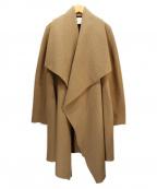 HARRIS WHARF LONDON(ハリスワーフロンドン)の古着「ウールガウンコート」|ベージュ
