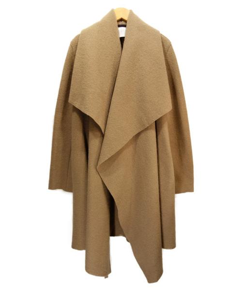 HARRIS WHARF LONDON(ハリスワーフロンドン)HARRIS WHARF LONDON (ハリスワーフロンドン) ウールガウンコート ベージュ サイズ:Sの古着・服飾アイテム
