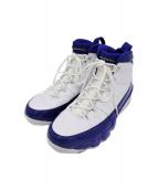 NIKE(ナイキ)の古着「AIR JORDAN 9 RETRO」|ホワイト×ブルー