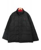 ()の古着「リバーシブルダウンジャケット」|ブラック×レッド