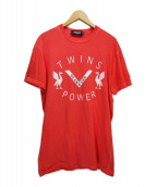 DSQUARED2(ディースクエアード)の古着「TWINS POWER TEE」 レッド