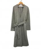UNITED ARROWS(ユナイテッドアローズ)の古着「ノーカラーウールコート」|グレー