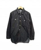 Engineered Garments(エンジニアドガーメンツ)の古着「山ポケットワークシャツ」|ネイビー