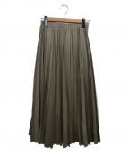 Loulou Willoughby(ルルウィルビー)の古着「フェイクスエードプリーツスカート」|グレー