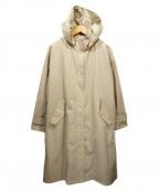 INDIVI()の古着「ライナー付カルゼ2WAYフーデッドコート」|ベージュ