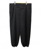 SYU.(シュウ)の古着「ワイドデザインパンツ」 ブラック
