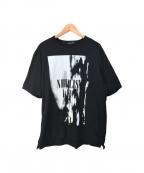 LAD MUSICIAN()の古着「NIHILIST LIVE ビッグ プリント Tシャツ」 ブラック