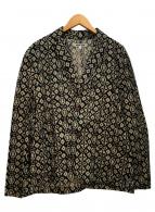 ()の古着「総柄ジャケット」|ブラック