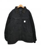 CarHartt(カーハート)の古着「ダック地ワークジャケット」|ブラック