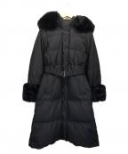 GRACE CONTINENTAL()の古着「ファー付ロングダウンコート」|ブラック