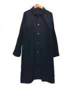 RINEN(リネン)の古着「リネンシャツワンピース」|ブラック