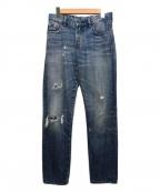 LEVI'S VINTAGE CLOTHING(リーバイスヴィンテージクロージング)の古着「ダメージデニムパンツ」 インディゴ