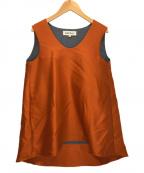 ENFOLD(エンフォルド)の古着「ウールブラウス」 オレンジ