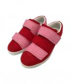 Acne studios(アクネストゥディオス)の古着「Felt Triple Lo Sneakers」|ピンク