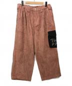 TIGHTBOOTH PRODUCTION(タイトブースプロダクション)の古着「PATS PANTS PAT CORD PANTS」|ピンク