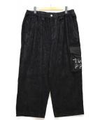 ()の古着「PATS PANTS PAT CORD PANTS」 ブラック