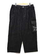 TIGHTBOOTH PRODUCTION(タイトブースプロダクション)の古着「PATS PANTS PAT CORD PANTS」|ブラック