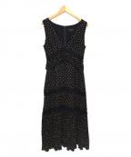 JILL STUART(ジルスチュアート)の古着「ナンシードットワンピース」|ブラック