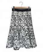 EPOCA(エポカ)の古着「フィオーレピグメントプリントスカート」|ホワイト