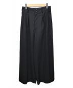 ()の古着「ハイウエストワイドパンツ」 ブラック