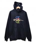 SUPREME×Champion()の古着「Stacked C Hooded Sweatshirt」|ネイビー