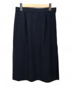 Leilian(レリアン)の古着「サイドプリーツタイトスカート」 ネイビー