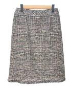 Leilian(レリアン)の古着「ツイードタイトスカート」|オリーブ