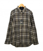 PENDLETON(ペンドルトン)の古着「エルボーパッチチェックシャツ」|グレー