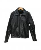 Schott(ショット)の古着「ボアライナー付レザージャケット」 ブラック