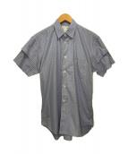 COMME des GARCONS SHIRT(コムデギャルソンシャツ)の古着「SSレイヤードチェックシャツ」|ブルー