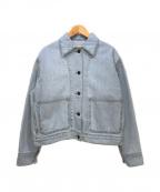 Max Mara WEEK END LINE(マックスマーラウイークエンドライン)の古着「Cropped Denim Jacket」|ライトインディゴ