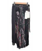 ()の古着「Diamond Head Pleated Skirt」|ブラック