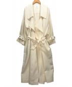 ()の古着「BIG COLLAR LONG COAT」 ホワイト