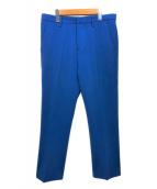 ENFOLD(エンフォルド)の古着「センタープレスパンツ」 ブルー