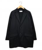 eN ROUTE(アンルート)の古着「ポリエステルツイルドロップショルダー2Bジャケット」|ブラック