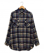 PENDLETON(ペンドルトン)の古着「ウールチェックシャツ」|ネイビー