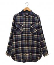 PENDLETON (ペンドルトン) ウールチェックシャツ ネイビー サイズ:M USA製