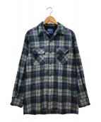 ()の古着「ウールチェックシャツ」|ネイビー