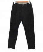 WESTOVERALLS(ウエストオーバーオールズ)の古着「SUEDE EASY TAPERD PANTS」 ブラック
