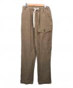 FACTOTUM(ファクトタム)の古着「リネンギャバジン B.A オーバーパンツ」|ベージュ